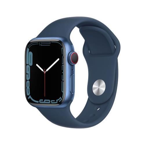 Apple Watch Series 7 GPS 45mm Blue Aluminium Case with Abyss Blue Sport Band - Regular
