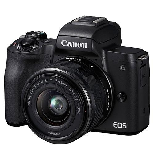 Canon EOS M50 Mirrorless Camera in Black with EF-M 15-45mm IS STM Lens