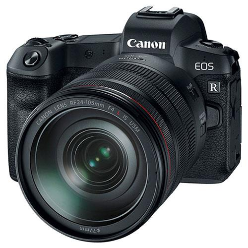 Canon EOS R Mirrorless Camera with RF 24-105mm f/4 L IS USM Lens and Mount Adapter