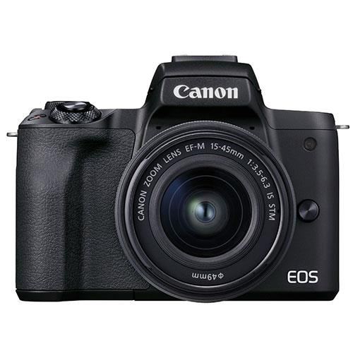 Canon EOS M50 Mark II Mirrorless Camera in Black with EF-M 15-45mm Lens