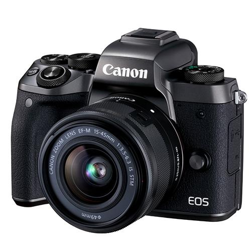Canon EOS M5 Mirrorless Camera in Black with EF-M 15-45mm f/3.5-6.3 IS STM Lens - Ex Display