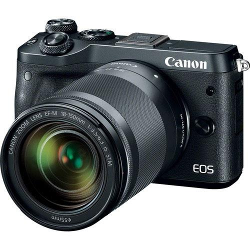 Canon EOS M6 Mirrorless Camera in Black with 18-150mm Lens