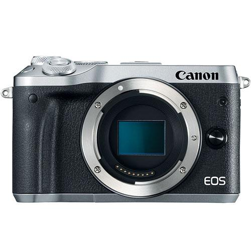 Canon EOS M6 Mirrorless Camera Body in Silver