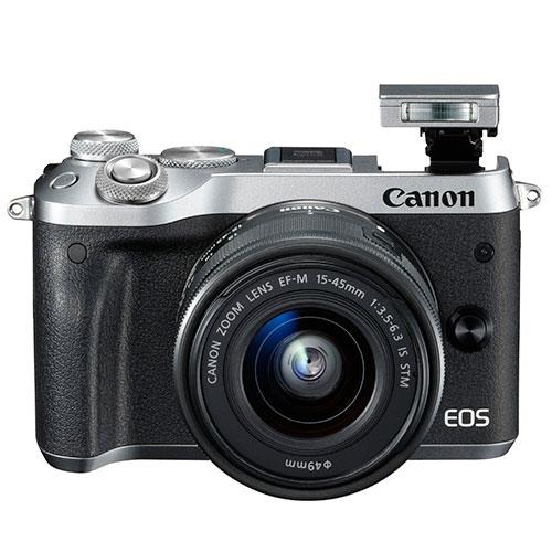 Canon EOS M6 Mirrorless Camera in Silver with 15-45mm Lens