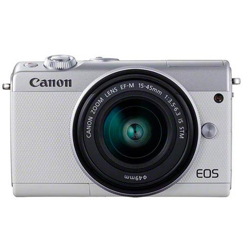 Canon EOS M100 Mirrorless Camera in White Limited Edition with 15-45mm IS STM Lens