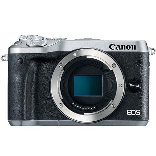 Canon EOS M6 Mirrorless Camera Body in Silver - Ex Display