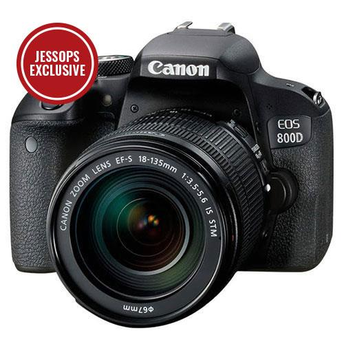 Canon EOS 800D DSLR with 18-135mm EF-S f/3.5-5.6 IS STM Lens
