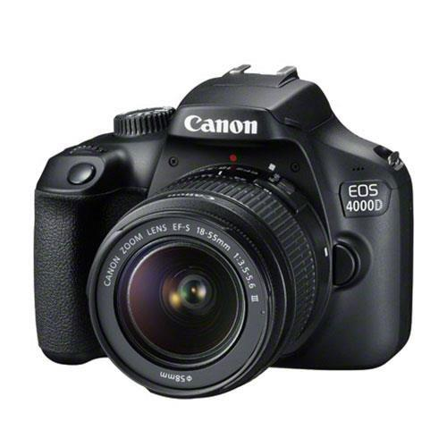 Canon EOS 4000D Digital SLR with EF-S 18-55mm III DC Lens - Ex Display