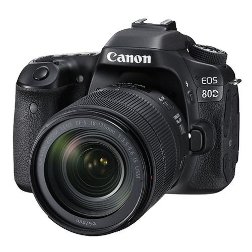 Canon EOS 80D DSLR with EF-S 18-135mm f/3.5-5.6 IS USM Lens