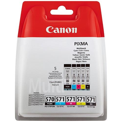Canon PGI-570/CLI-571 Ink Cartridge Multipack