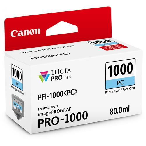 Canon PFI-1000PC Photo Cyan Ink Cartridge