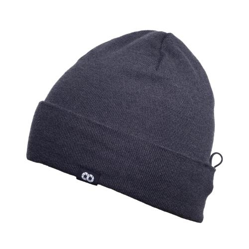 COOPH Beanie Hat with Pouch Grey