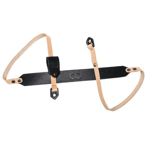COOPH Camera Strap Leather 98cm Light Brown / Black