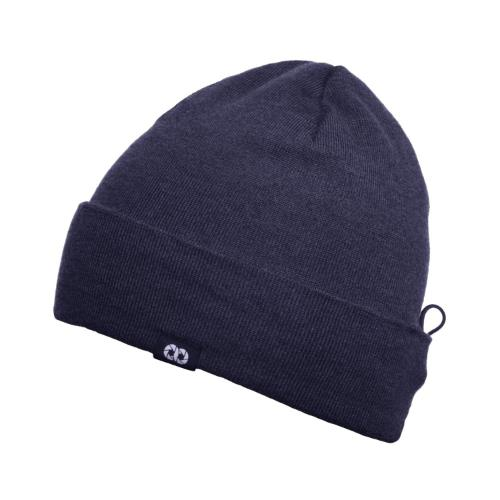 COOPH Beanie Hat with Pouch Navy