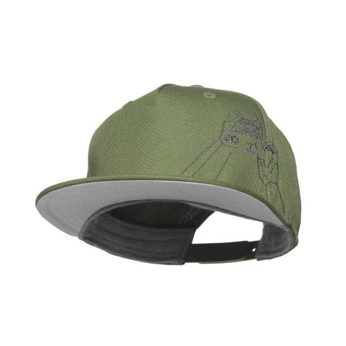 COOPH Gray Chart Cap Hands On Sky Olive