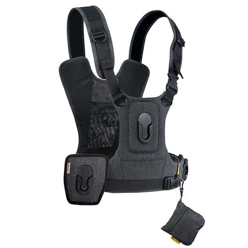 Cotton Carrier G3 Camera Harness in Charcoal Grey for Two Cameras