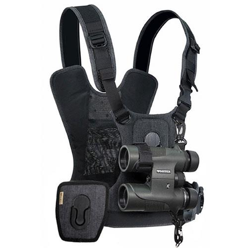 Cotton Carrier G3 Binocular and Camera Harness in Charcoal Grey