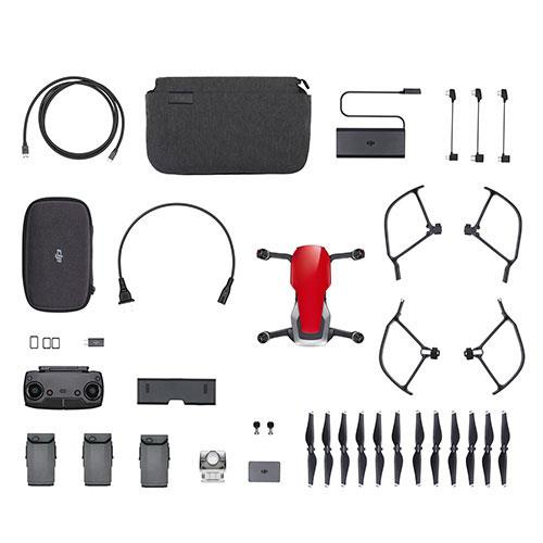 DJI Mavic Air Fly More Combo Drone in Flame Red - Refurbished