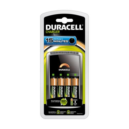 Duracell 15 Minute Charger and 4 AA Batteries