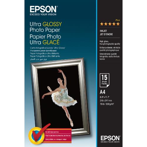 Epson Ultra Glossy Photo Paper A4 15 Sheets
