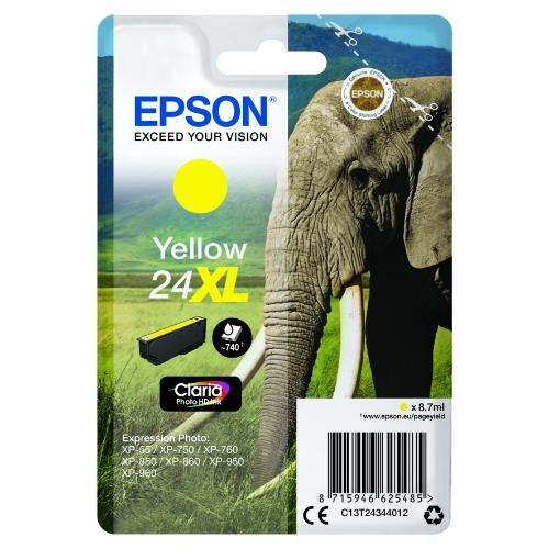 Epson Yellow 24XL Claria Photo HD Ink