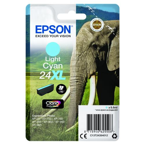 Epson Light Cyan 24XL Clarai Photo HD Ink
