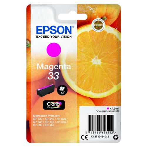 Epson Magenta 33 Claria Premium Ink