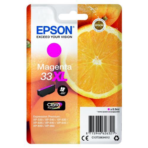 Epson Magenta 33XL Claria Premium Ink