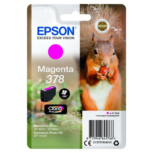 Epson Magenta 378 Claria Photo HD Ink