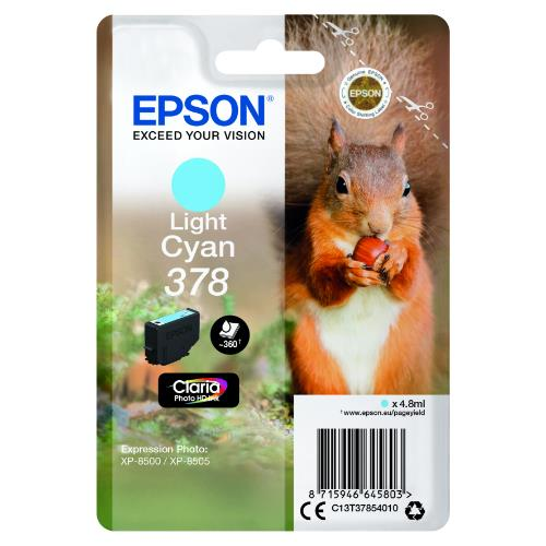 Epson Light Cyan 378 Claria Photo HD Ink
