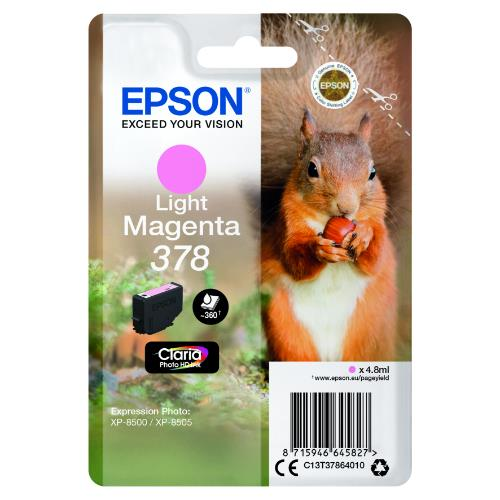 Epson Light Magenta 378 Claria Photo HD Ink