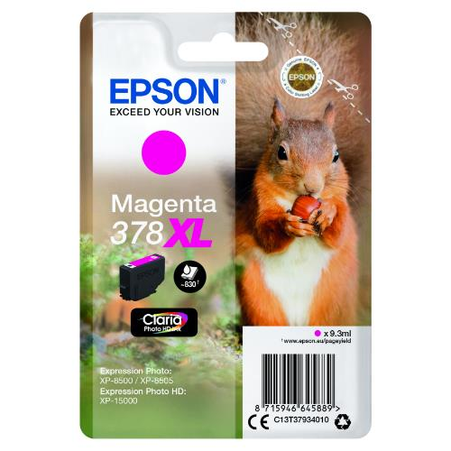 Epson Magenta 378XL Claria Photo HD Ink