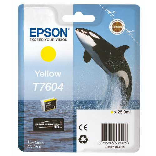 Epson T7604 Yellow Ink
