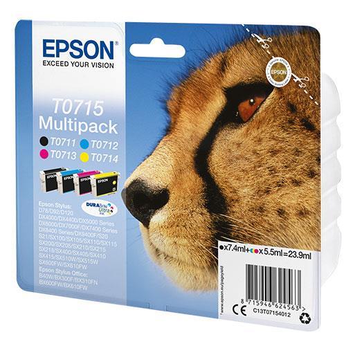 Epson Multipack T0715 Durabright Ink Cartridges