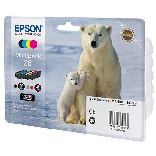 Epson Multipack 26 Claria Ink Cartridges