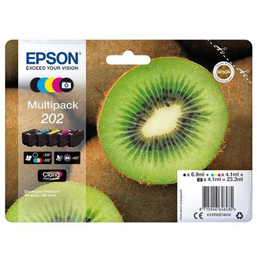 Epson 202 Black Claria Premium Ink 5-Colour Multipack