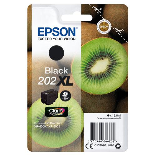 Epson 202XL Black Claria Premium Ink