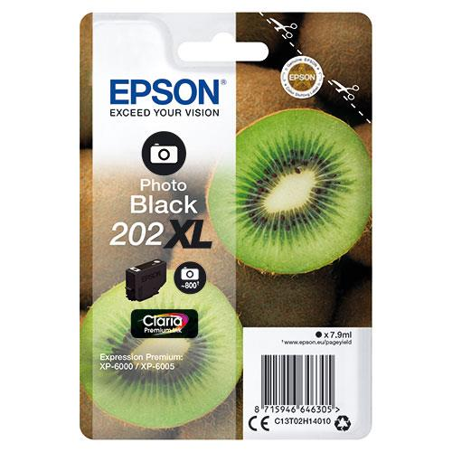 Epson 202XL Photo Black Claria Premium Ink