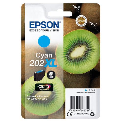 Epson 202XL Cyan Claria Premium Ink