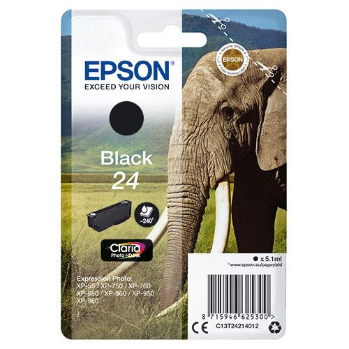 Epson 24 Black Claria Photo HD Ink