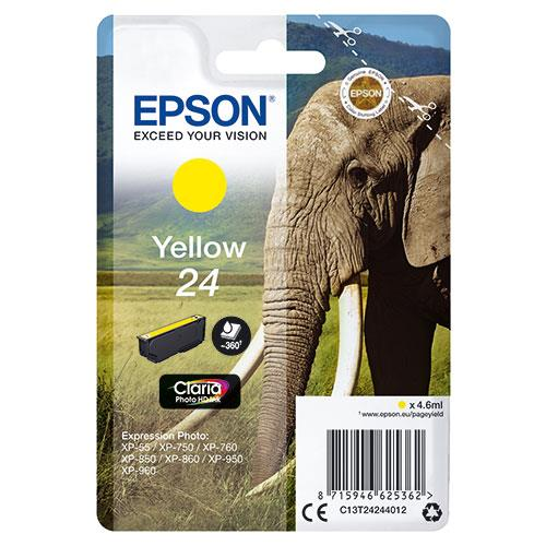 Epson 24 Yellow Claria Photo HD Ink