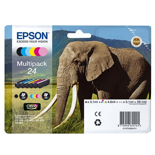 Epson 24 Claria Photo HD 6-Colour Ink MultiPack