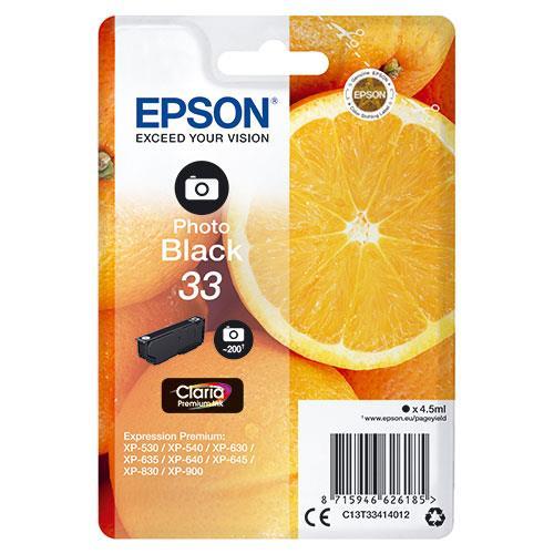 Epson 33 Black Claria Premium Ink