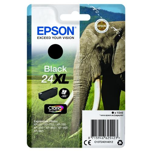 Epson Black 24XL Claria Photo HD Ink