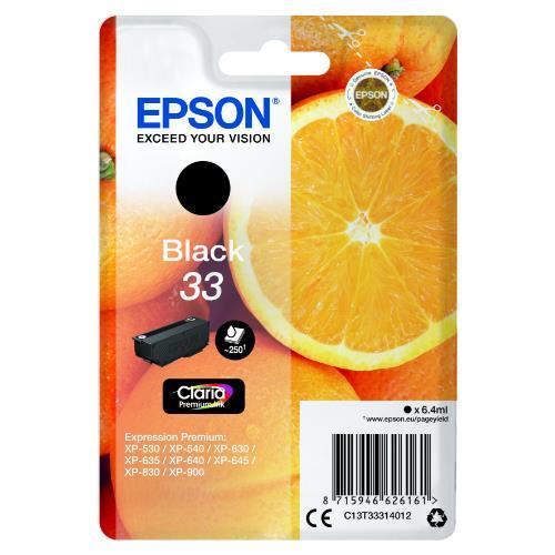 Epson Black 33 Claria Premium Ink
