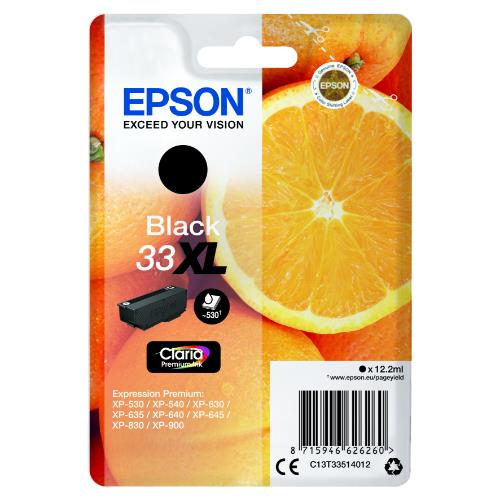 Epson Black 33XL Claria Premium Ink