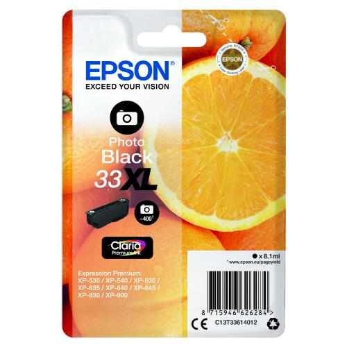 Epson Photo Black 33XL Claria Premium Ink