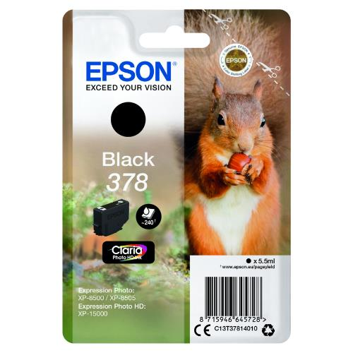 Epson Black 378 Claria Photo HD Ink