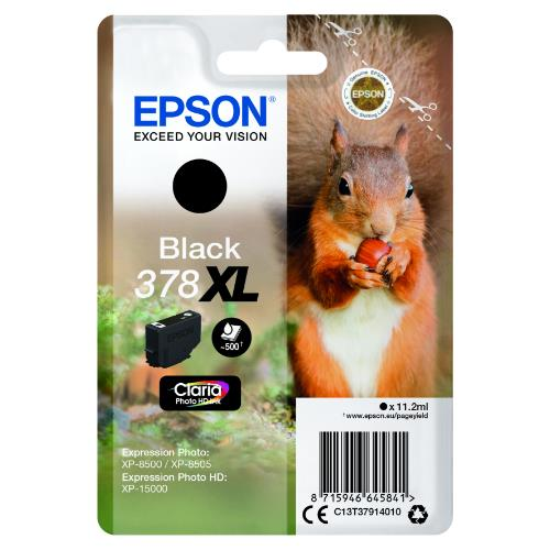 Epson Black 378XL Claria Photo HD Ink