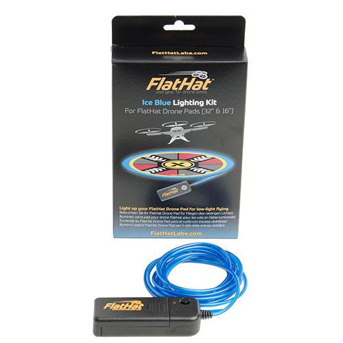 FlatHat Ice Blue Lighting Kit for Collapsible Drone Pads